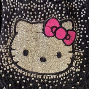 Hello Kitty black velour hoodie with red ruffle